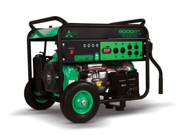 Champion Power Equipment 71330, 6000 Starting Watts, Dual Fuel Powered Portable Generator